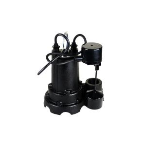 Water Source 1/2 HP Cast Iron Sump Pump with Vertical Float Switch by Water Source
