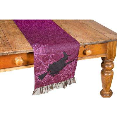 0.2 in. H x 13 in. W x 36 in. D Witching Hour Halloween Table Runner