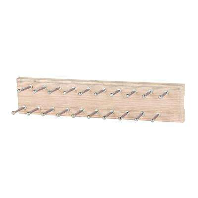 20-Hook Chai Latte Sliding Tie Rack