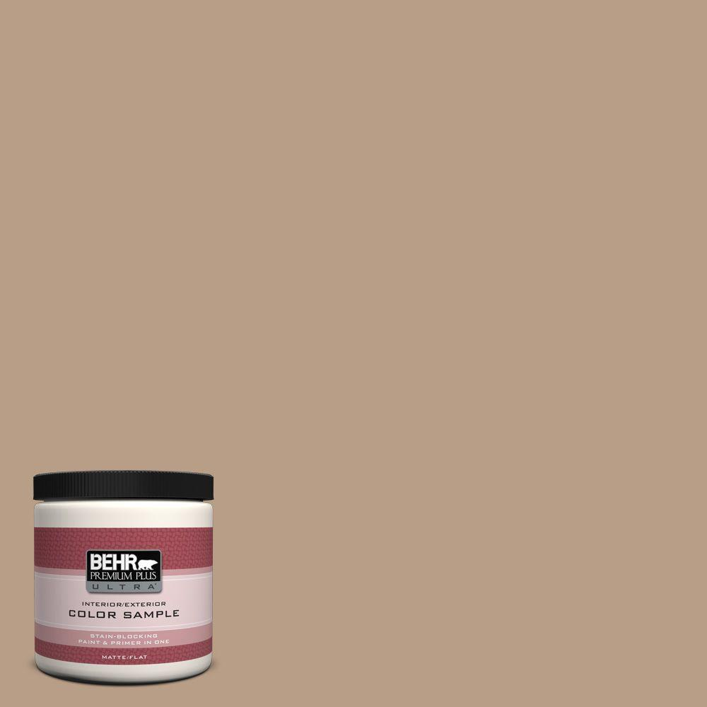 BEHR Premium Plus Ultra 8 oz. #ICC-52 Cup Of Cocoa Interior/Exterior Paint Sample
