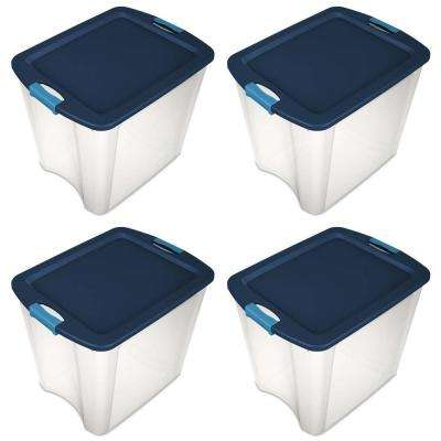 26 Gal. Latch and Carry Storage Tote Box Containers (4-Pack)