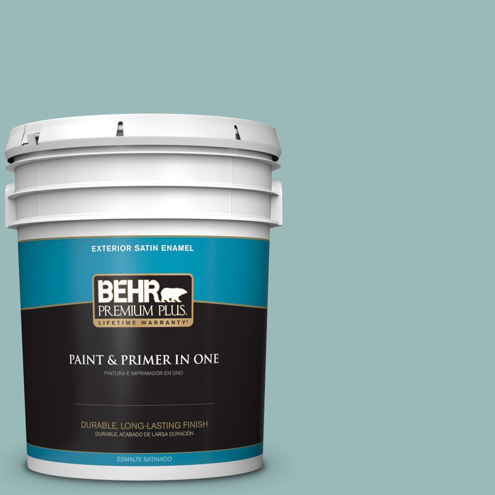 5 gal. #PPU12-06 Lap Pool Blue Satin Enamel Exterior Paint