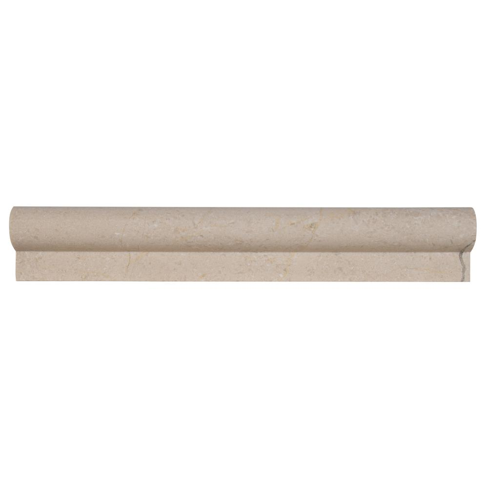 MS International Crema Marfil 2 in. x 12 in. Polished Marble Rail Molding Wall Tile (10 ln. ft. / case)