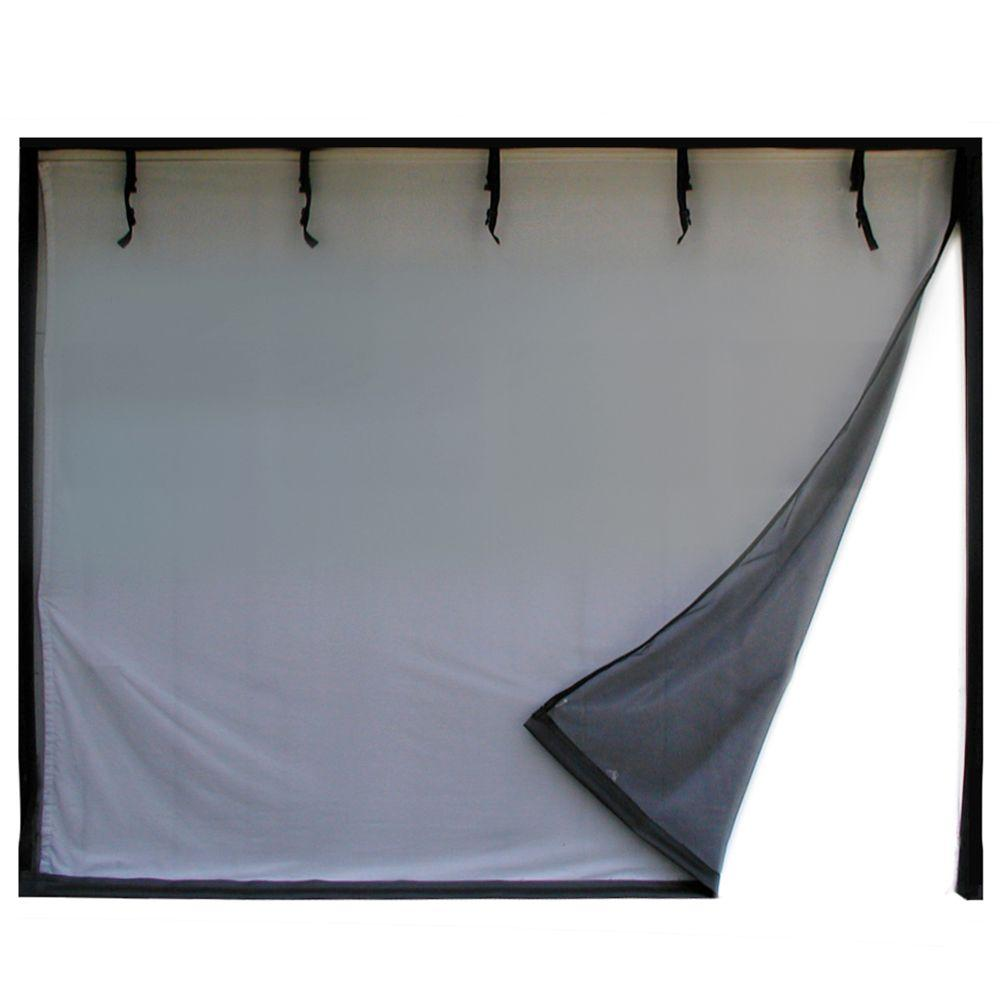 16 ft. x 8 ft. 2-Zipper Garage Door Screen