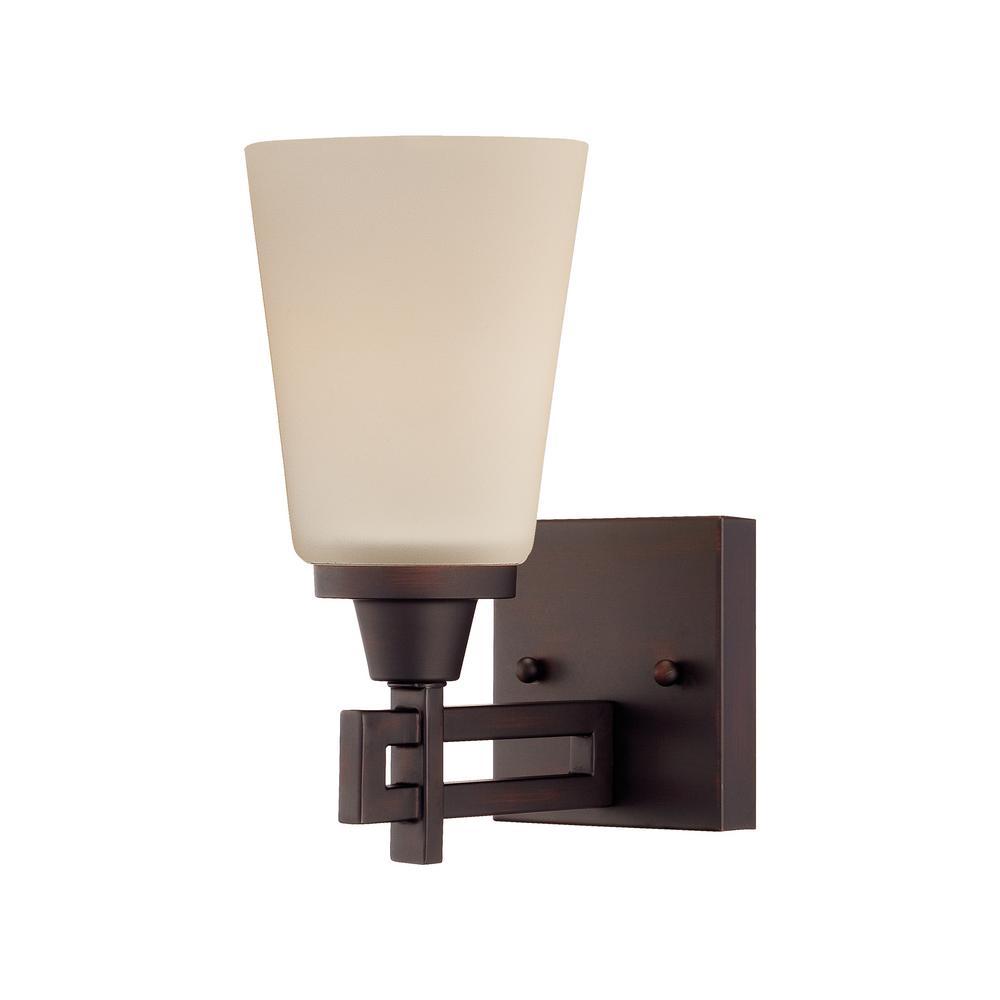 Wright 1-Light Espresso Bath Light