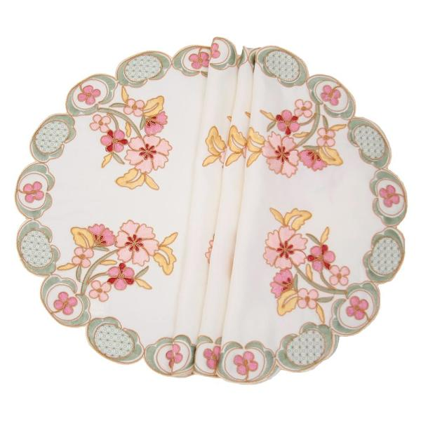 Manor Luxe Primrose 16 in. Embroidered Cutwork Round Placemats (Set of
