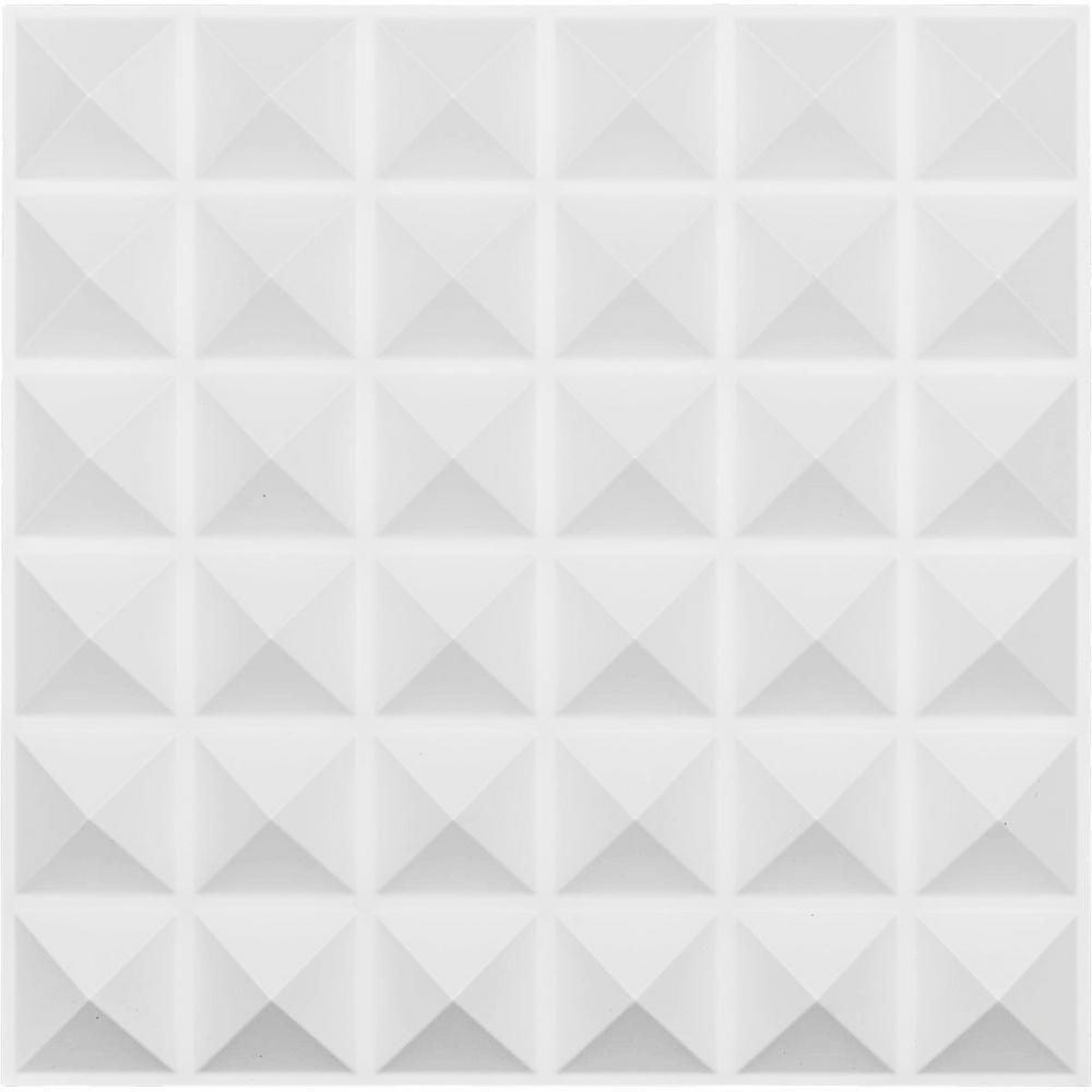1 in. x 19-5/8 in. x 19-5/8 in. White PVC Damon EnduraWall Decorative 3D Wall Panel