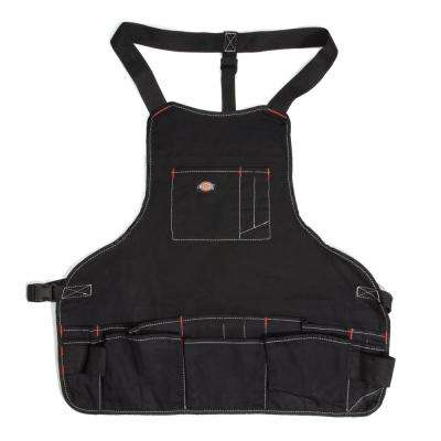 16-Pocket Light-Weight Tool / Work Bib Apron in Black