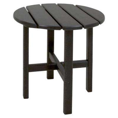 Classics 18 in. Black Round Patio Side Table