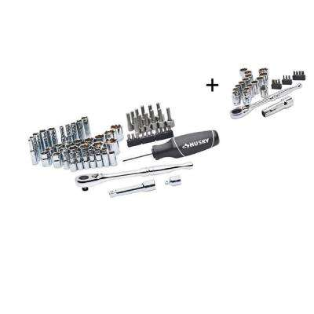 Mechanic Tool Set (65-Piece) with Universal Pass-Thru Set (28-Piece)