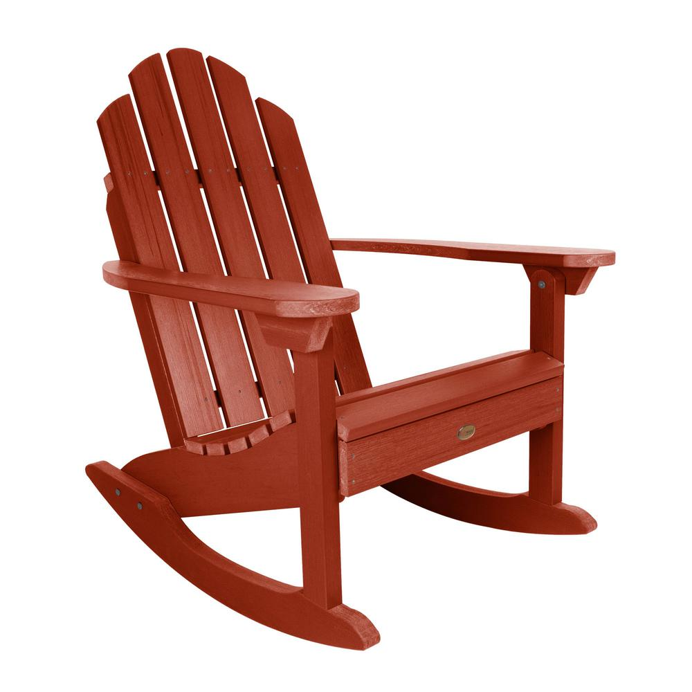 new style ed326 f9333 Highwood Classic Westport Rustic Red Recycled Plastic Outdoor Rocking Chair