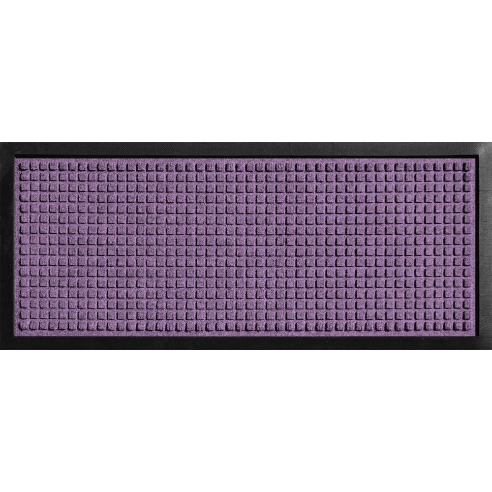 Aqua Shield Boot Tray Squares Purple 15 in. x 36 in. Door Mat