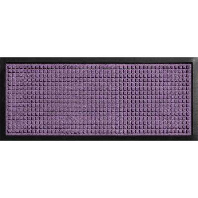 Aqua Shield Boot Tray Squares Purple 15 in. x 36 in. Door Mat