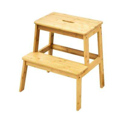 18.5 in. Tall Styled Natural Color Bamboo Step Stool