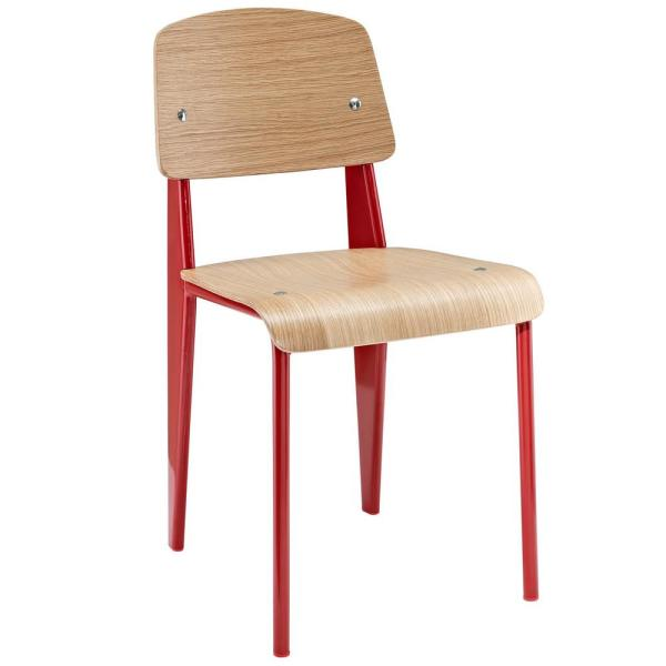 MODWAY Cabin Natural Red Dining Side Chair EEI-214-NAT-RED