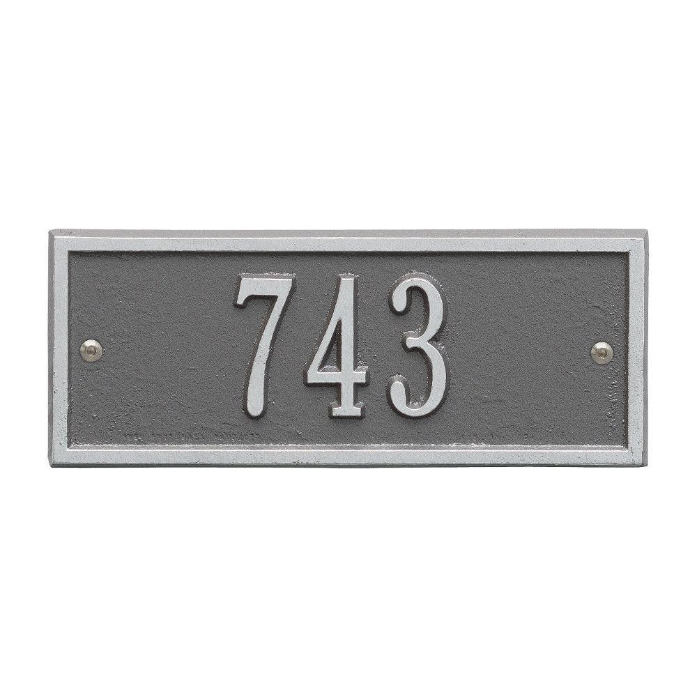 Whitehall Products Hartford Rectangular Pewter/Silver Petite Wall 1-Line Address Plaque
