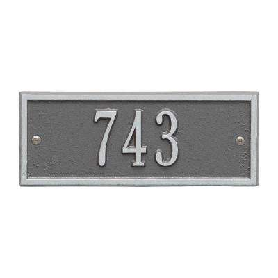 Hartford Rectangular Pewter/Silver Petite Wall 1-Line Address Plaque