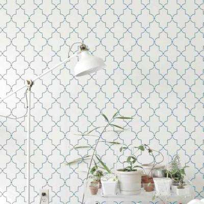 Iron Lattice Wall and Floor Stencil