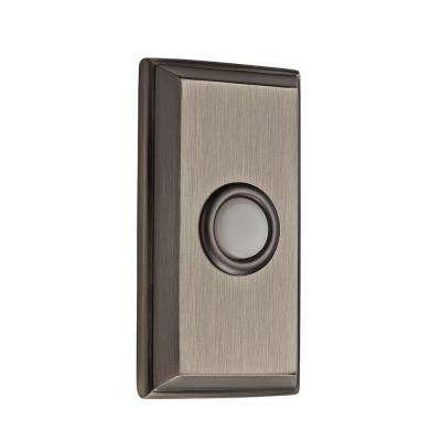 Wired Rectangular Bell Button - Matte Antique Nickel