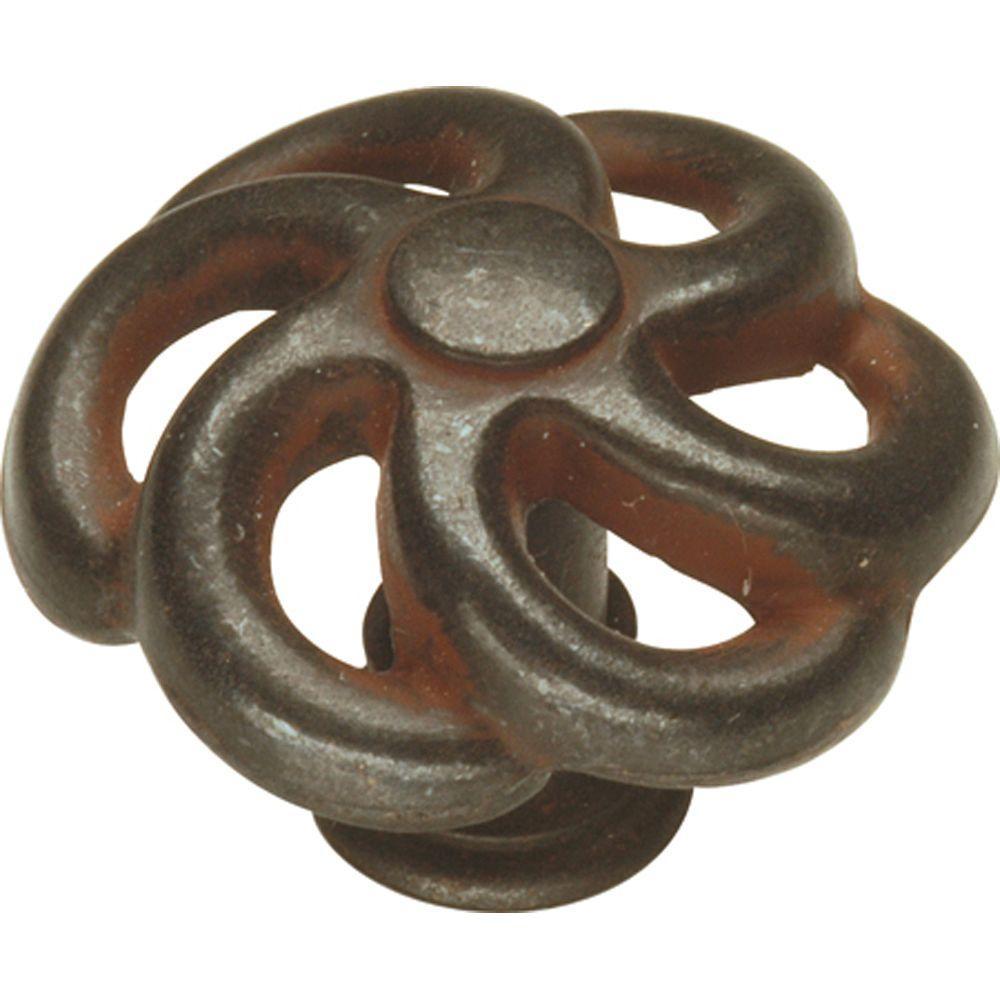 1-1/2 in. Charleston Blacksmith Rustic Iron Cabinet Knob