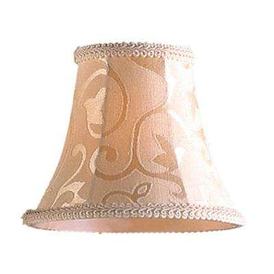 Elizabethan 1 light patterned beige fabric mini shade