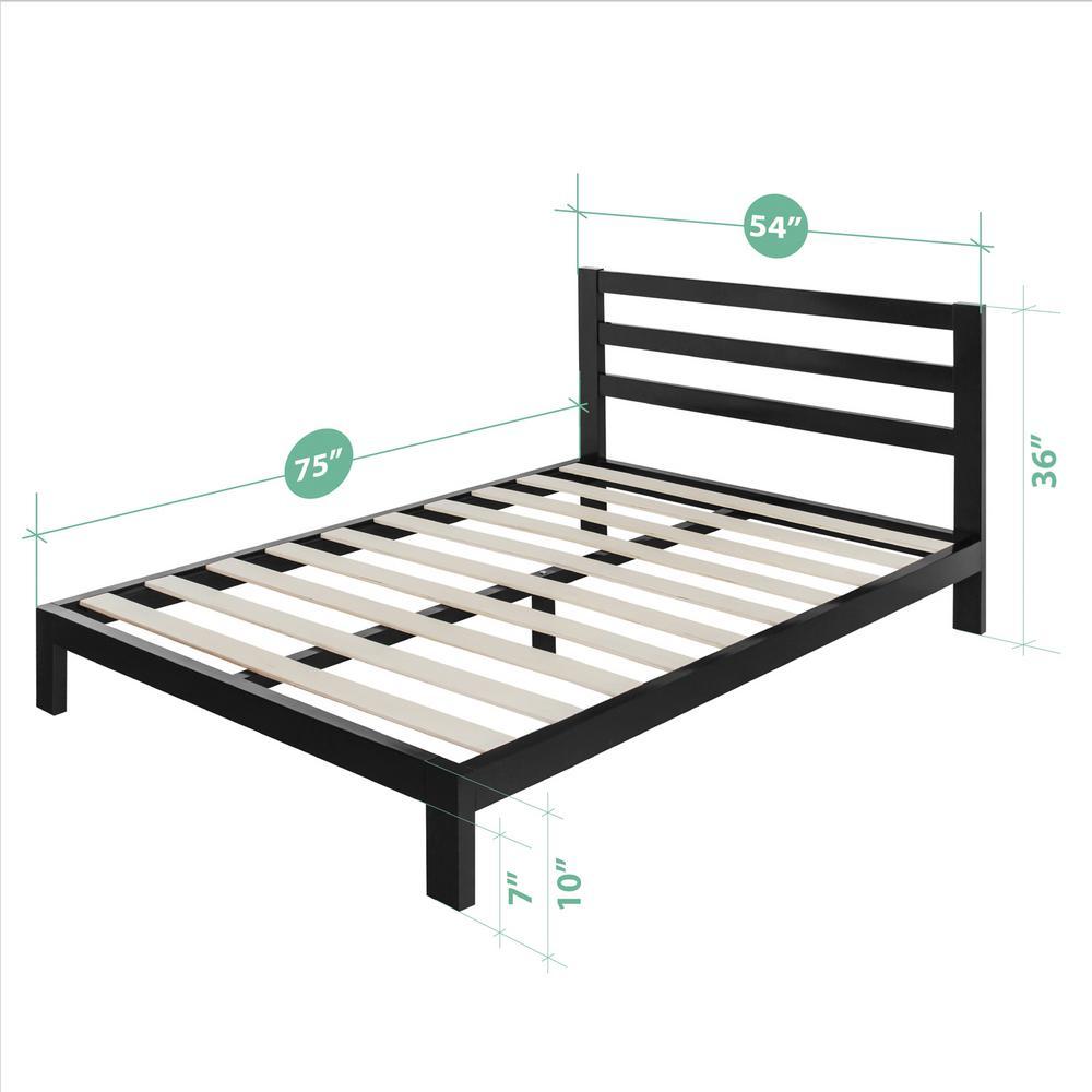 Arnav Modern Studio 10 Inch Platform 2000H Metal Bed Frame, Full