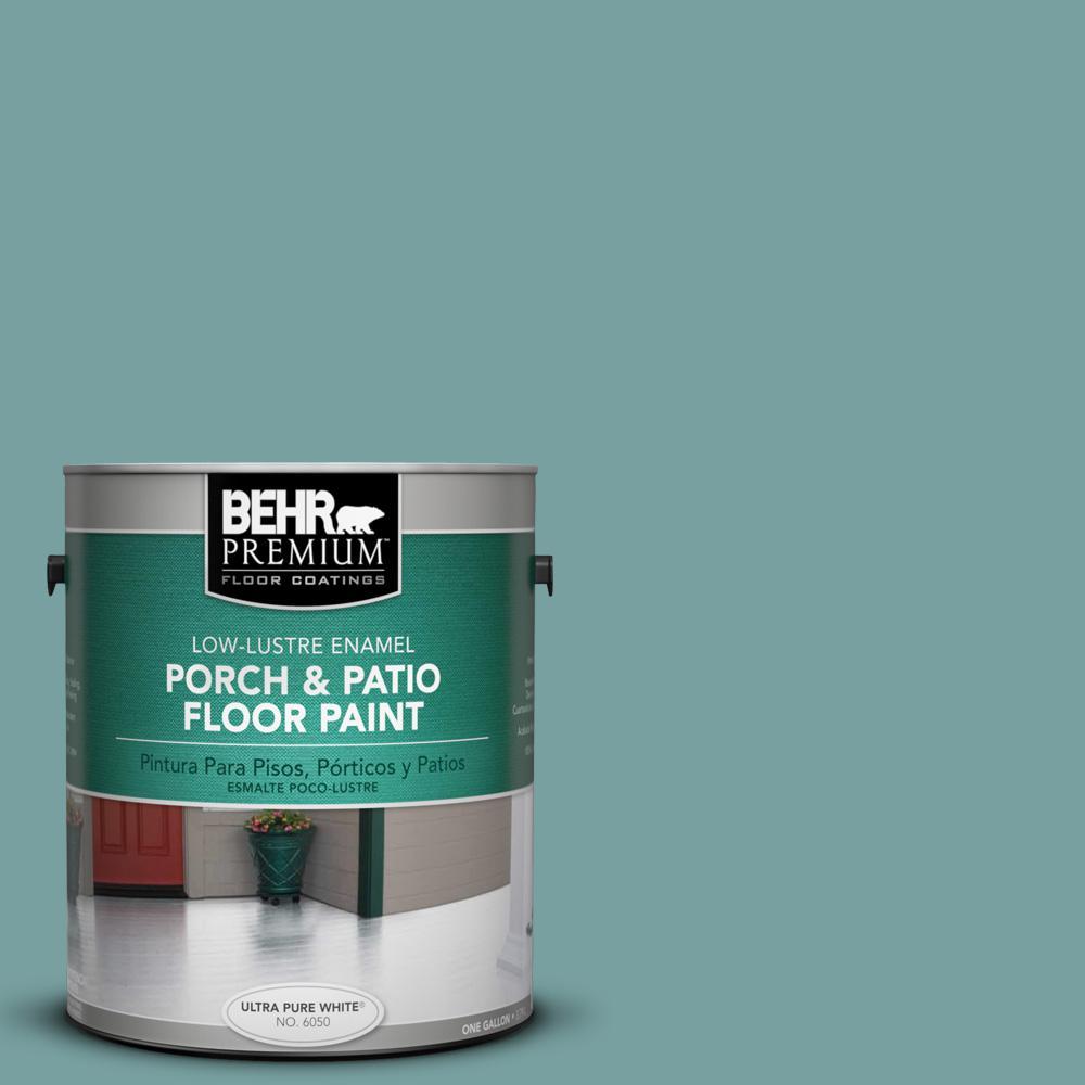 1 gal. #S440-4 Tower Bridge Low-Lustre Porch and Patio Floor Paint