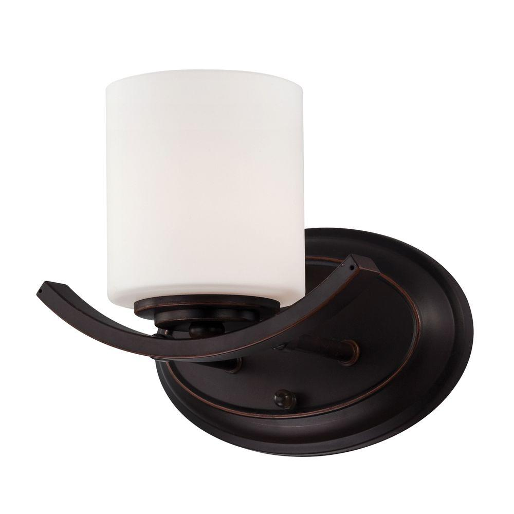 Eurofase Beam Collection 1-Light Oil Rubbed Bronze Wall Sconce