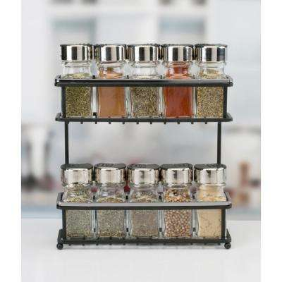 2 Tier Chrome Slim Line Spice Rack