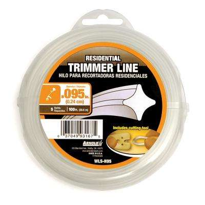 100 ft. Residential 0.095 in. Trimmer Line for Most Gas String Trimmers