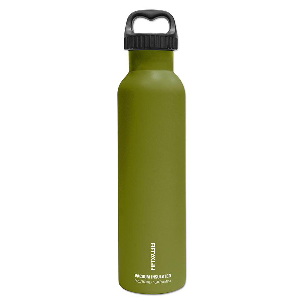 FIFTY/FIFTY 25 oz./750ml Vacuum-Insulated Bottle- Olive Green ...
