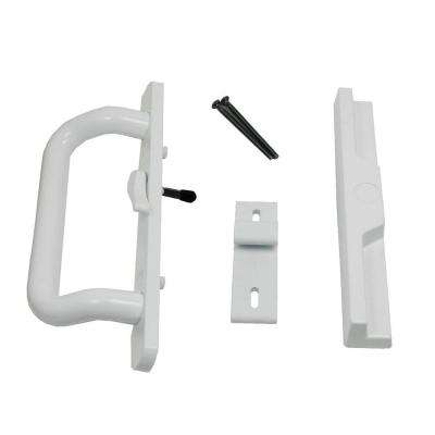 3-5/16 in. Surface Mount White Handle Set