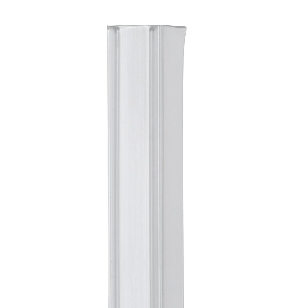 Showerdoordirect 36 In Frameless Shower Door Bottom Sweep With Drip Rail In Clear For 1 2 In Glass 12cobs36 The Home Depot