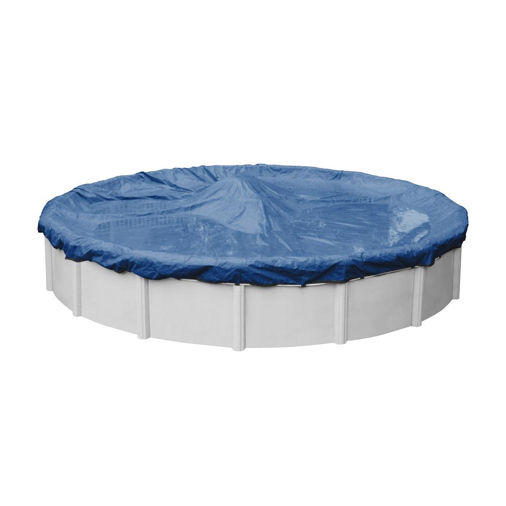 Robelle Pro-Select 30 ft. Round Blue Solid Above Ground P...