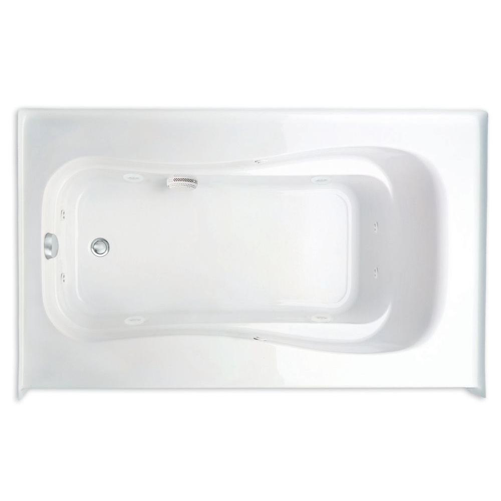 Novelli Q 5 ft. Left Drain Acrylic Whirlpool Bath Tub in