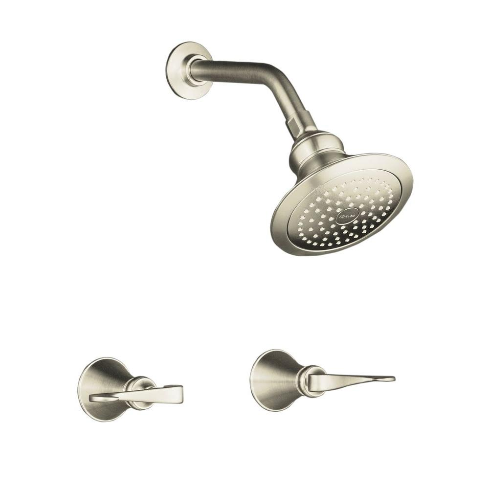 Revival 2-Handle 1-Spray Shower Faucet with Standard Showerarm and Flange in
