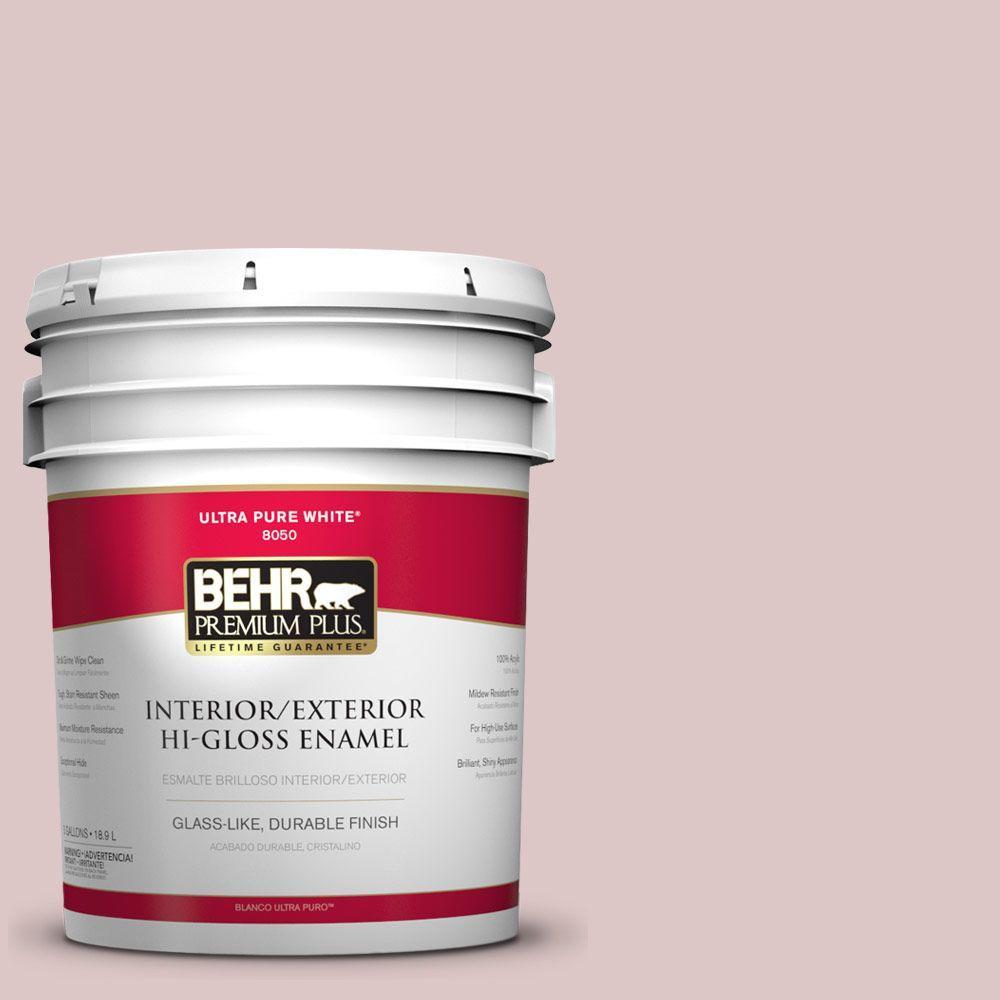 BEHR Premium Plus 5-gal. #130E-2 Fairview Taupe Hi-Gloss Enamel Interior/Exterior Paint
