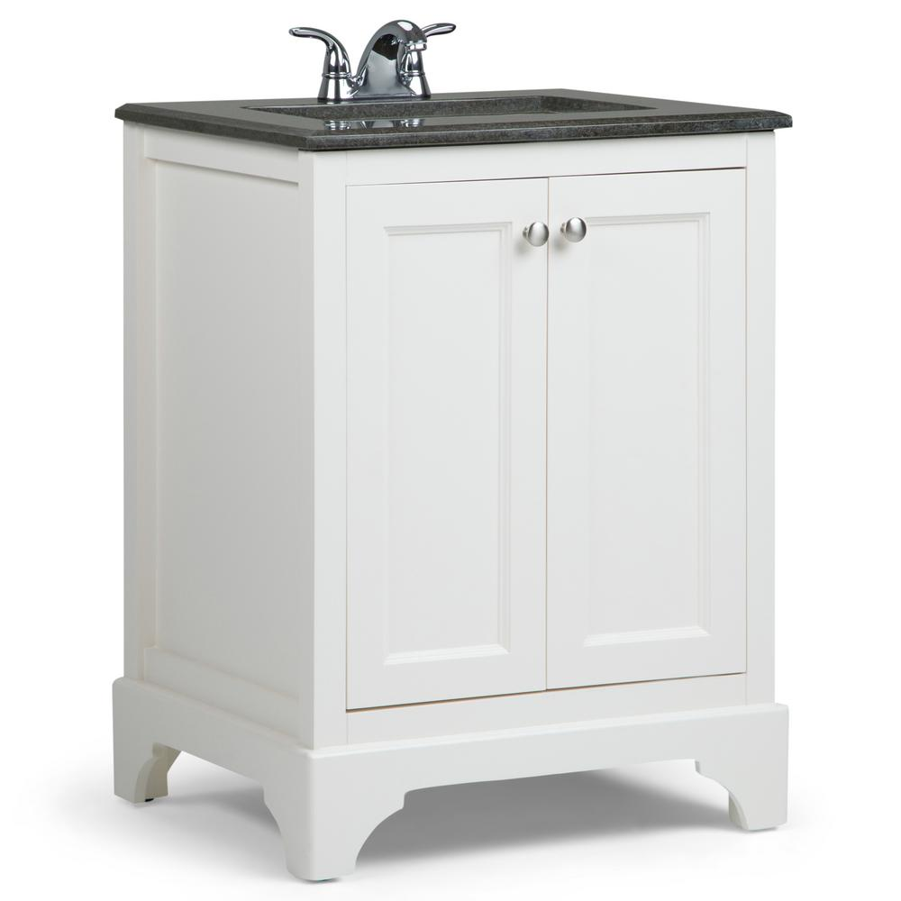 Simpli Home Cambridge 24 In Vanity In Soft White With