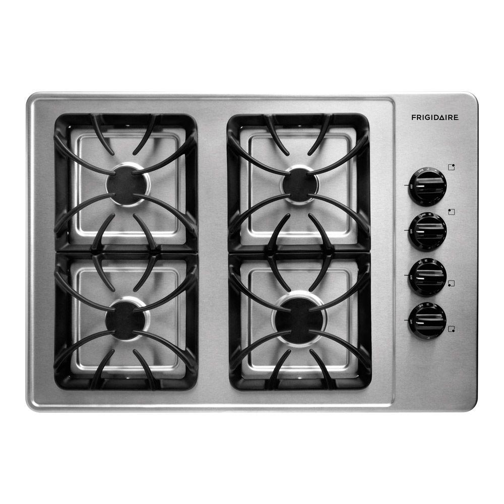 Frigidaire 30 in. Recessed Gas Cooktop in Stainless Steel with 4 Burners