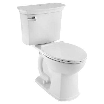 VorMax ActiClean 2-Piece 1.28 GPF Single Flush Elongated Toilet in White