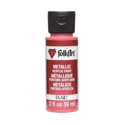 2 oz. Bright Red Metallic Craft Paint