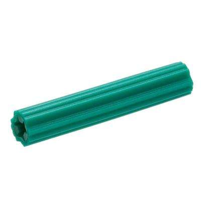 #10-12 x 1-1/2 in. Green Plastic Plug (10-Piece)