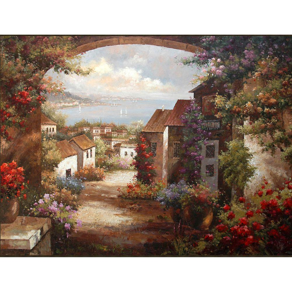 Studio Arts 48 in. x 36 in. Gallery Wrapped A Golden View Wall Art-DISCONTINUED