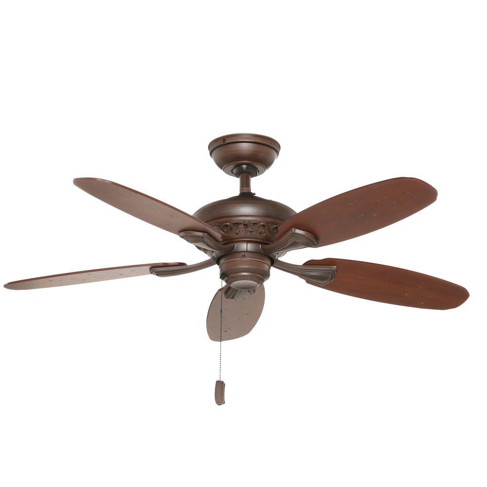 Casablanca Fordham 44 in. Indoor Brushed Cocoa Bronze Ceiling Fan