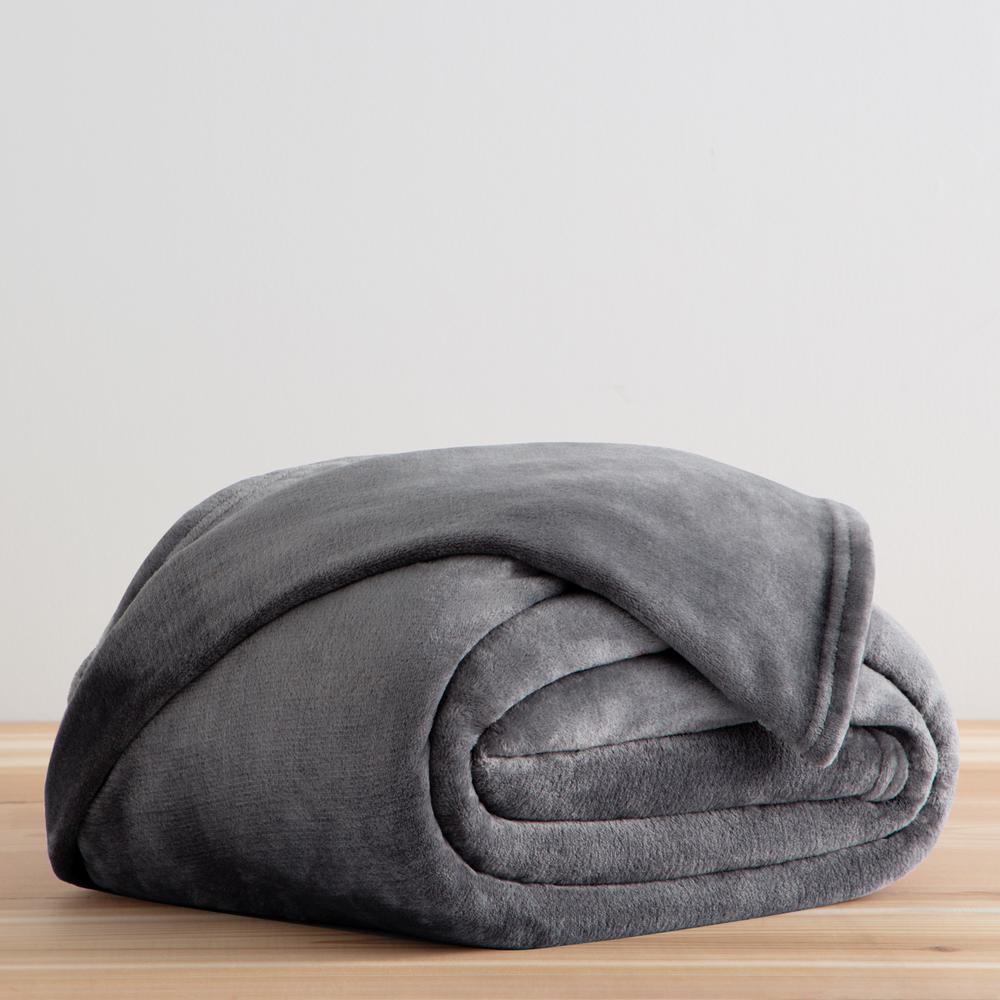 Grey Full PolyesterFleece Blanket