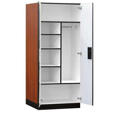 3200 Series 32 in. W x 76 in. H x 24 in. D Combination Wood Designer Storage Cabinet Assembled in Cherry