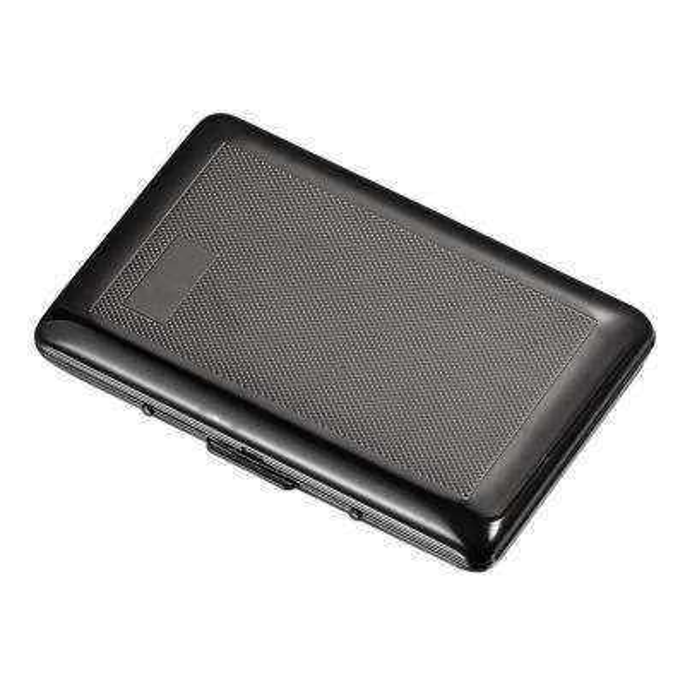 Mason Gun-Metal Plated Scale Stamped Pattern Cigarette Case
