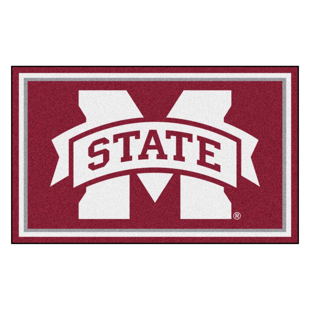 NCAA - Mississippi State University Reddish Brown 4 ft. x 6 ft. Area Rug