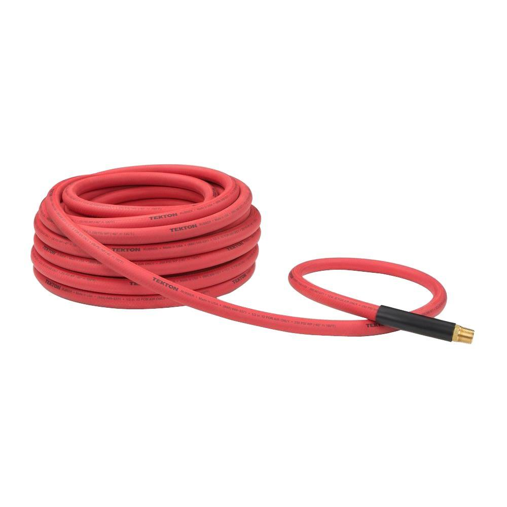 50 ft. x 1/2 in. I.D. Rubber Air Hose (250 PSI)