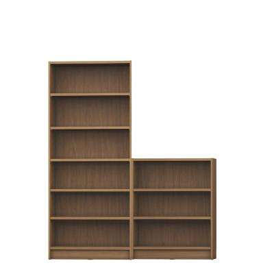 Greenwich 2-Piece Maple Cream Bookcase 9-Wide Shelves